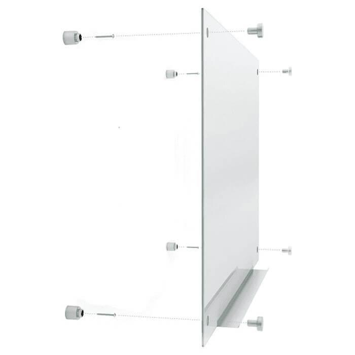 Cấu tạo cơ bản của bảng kính treo tường.