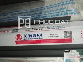 Nhôm Xingfa hệ 1000 và tem dán nhôm nhập khẩu chính hãng tại kho nhôm của Phúc Đạt.