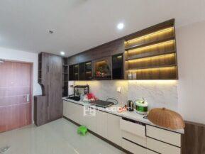 Mẫu tủ bếp đẹp thi công lắp đặt bởi Phúc Đạt.