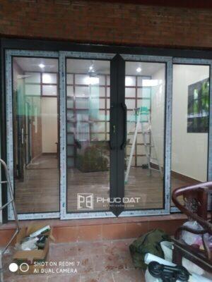Công trình cửa nhôm cao cấp lắp đặt tại Hưng Long, Bình Chánh, TPHCM
