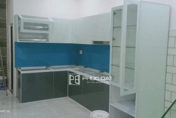 Công trình tủ bếp nhôm kính tại đường Nguyễn Văn Khối, Gò Vấp, TPHCM