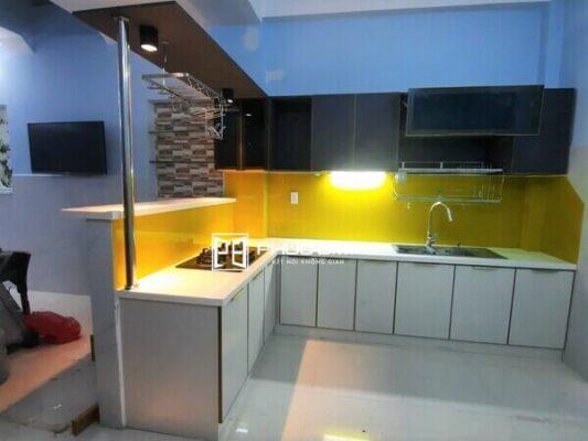 Công trình tủ bếp nhôm hợp kim thi công tại Gò Vấp - TPHCM